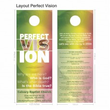 Door Hanger - Jumbo Layout Perfect Vision