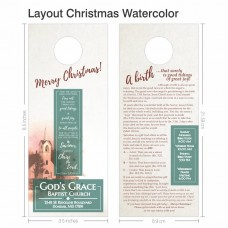 Door Hanger - Layout Christmas 001