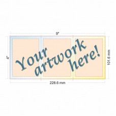 "3"" x 4"" Tri-fold Tract with Customer Art"