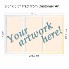 "8.5"" x 5.5"" Tract from Customer Art"